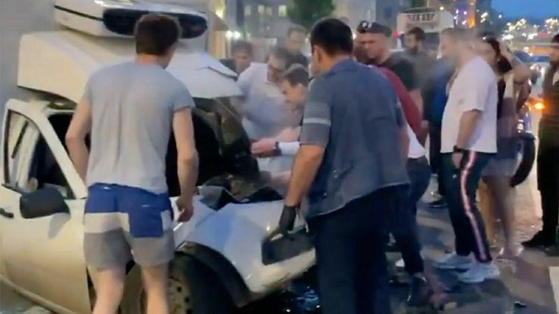 Автомобиль Lada, в который врезалась машина Ефремова.