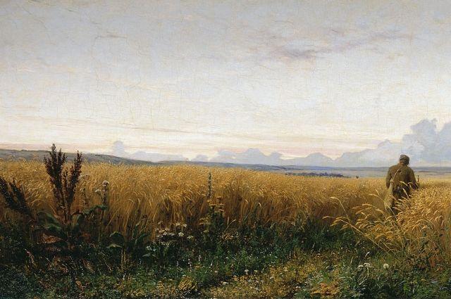 Григорий Мясоедов. Фрагмент картины «Дорога во ржи».