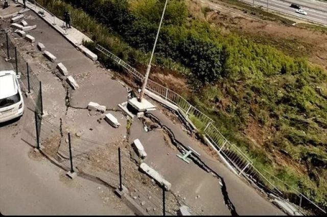 На укрепление склона только на первоначальном этапе потребуется 26 млн рублей.