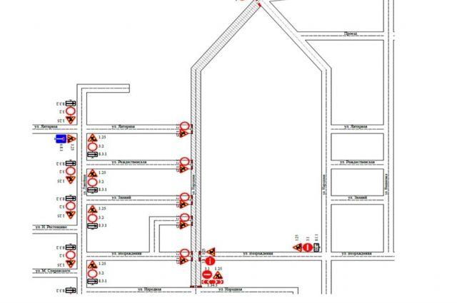 В Тюмени до 30 июля перекрыли участок улицы Народной