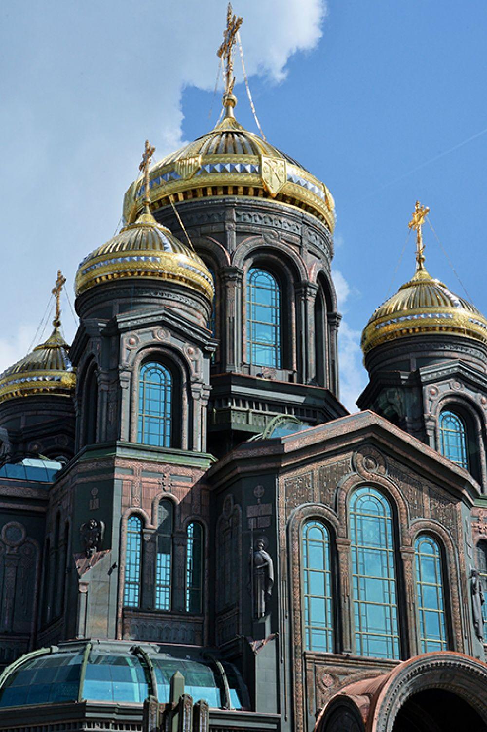 Общий вид на главный храм Вооруженных сил РФ.