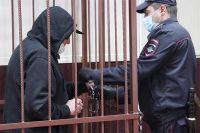 Актёр Михаил Ефремов во время избрания меры пресечения в Таганском суде Москвы.