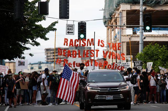 Протесты в Сиэтле.