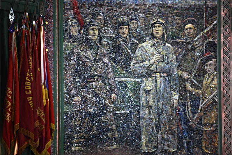 Мозаичное панно главного храма Вооруженных сил РФ.