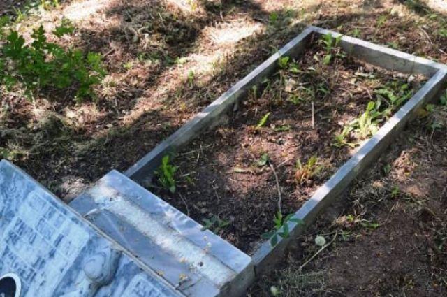 Осмотрев место происшествия стражи порядка обнаружили 22 разрушенных  надгробных памятника.