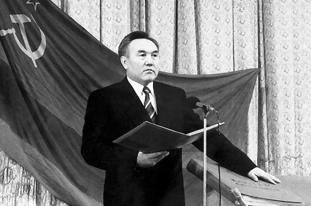 Первая инаугурация Нурсултана Назарбаева проходила в Алма-Ате с участием депутатов Верховного Совета.