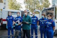 Срегей Собянин вместе с сотрудниками 17-й подстанции осмотрел новое здание скорой помощи на ул. Печорской.