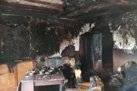 Пожар в частном доме