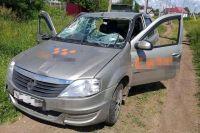 Такси, на котором пьяный водитель сбил подростков в Иглино.
