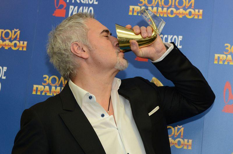 Певец Валерий Меладзе на церемонии вручения ежегодной музыкальной премии «Золотой граммофон-2014».