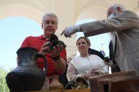 Мэр Москвы Сергей Собянин во время посещения Новодевичьего монастыря ознакомился с ходом реставрационных работ.