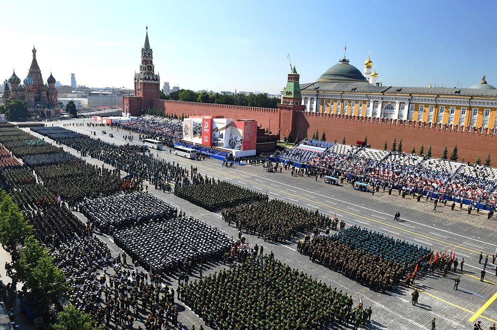 Военный парад в честь 75-летия Победы на Красной площади.