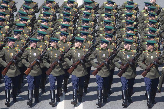 Историческая часть парада Победы.