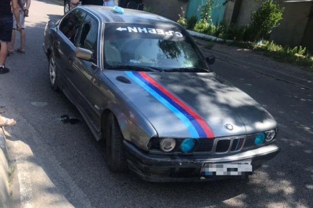 В Одессе пьяный водитель BMW сбил патрульного полицейского