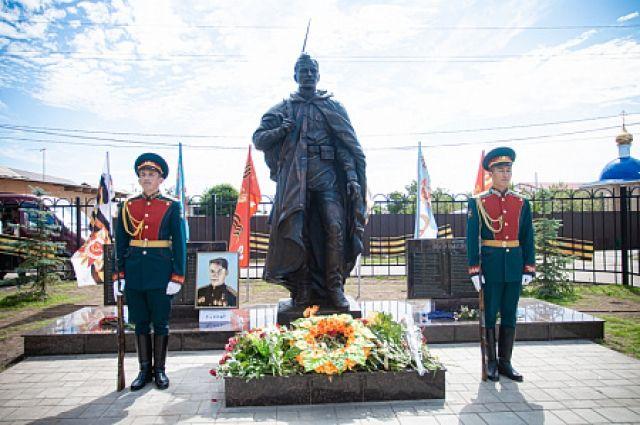 В Оренбургском районе открыт памятник воину-освободителю.