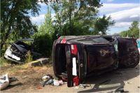 В Оренбурге в ДТП на Донгузской пострадали 6 человек, двое из них - дети.