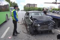 В Тюмени на улице Харьковской пьяный водитель въехал в иномарки