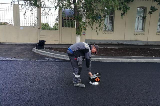 В Оренбурге на ул. Маршала Жукова уложили новый вид покрытия