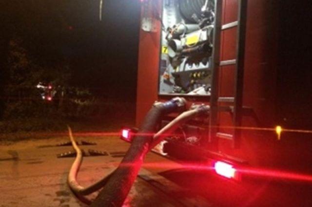 В Гвардейском районе на пожаре погибли два человека