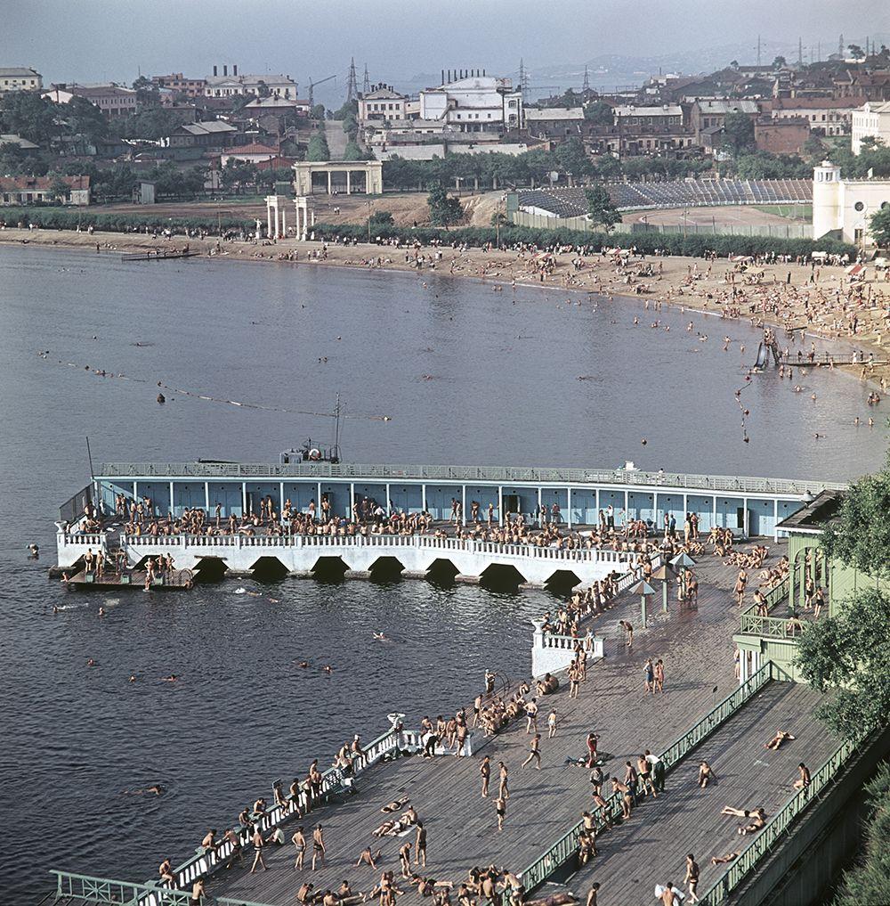 Водная станция спортивного общества «Водник». 1966 год.