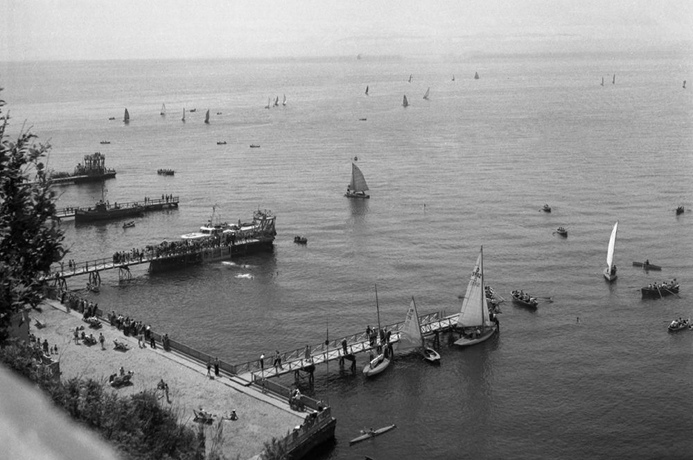 Город Владивосток. Вид на Амурский залив. 1956 год.