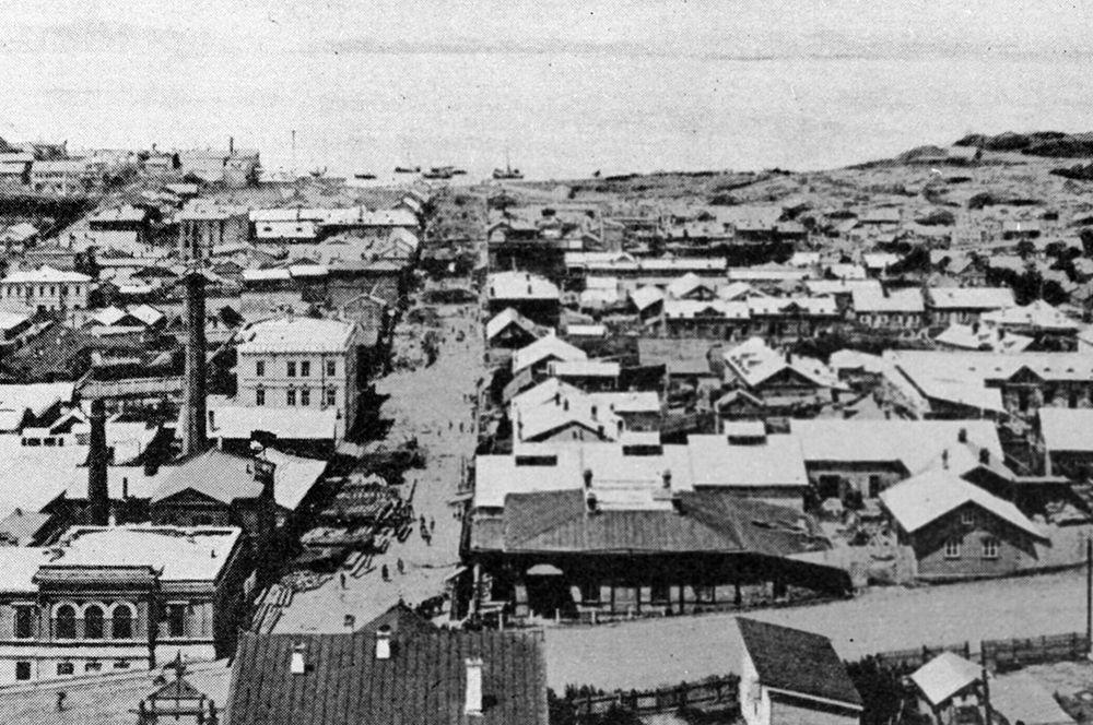 Город Владивосток во времена русско-японской войны, 1904 год.