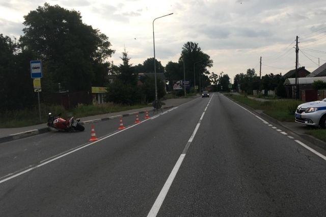 В ДТП на дороге «Калининград – Балтийск» пострадал мотоциклист
