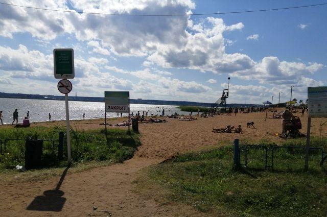 Ижевчан просят не посещать городской пляж из-за обработки от паразитов