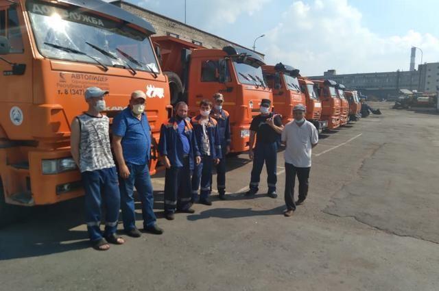 Протестующие коммунальщики в Уфе