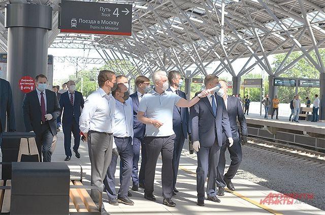 Новая ж/д станция Славянский бульвар (на МЦД-1) уже открыта.