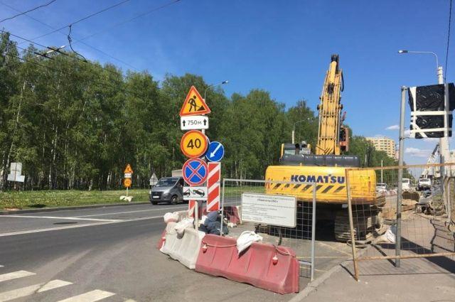 Из-за ремонта на Клинском проспекте в Петербурге ограничат движение