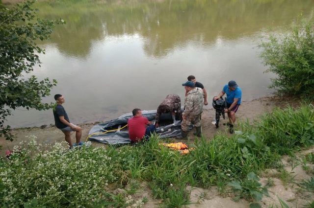 Поисковая операция на реке Алей.