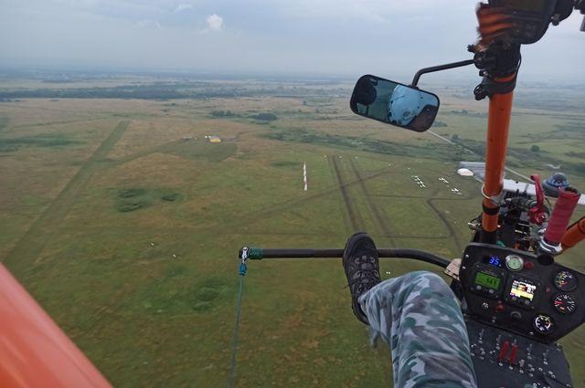Полет на высоте 100 метров.