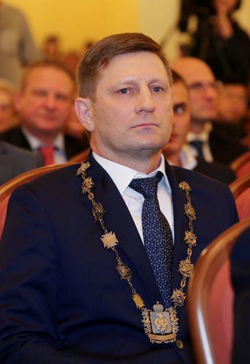 Губернатор Хабаровского края Сергей Фургал на церемонии инаугурации. 2018 год.
