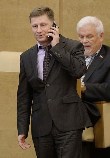 Председатель комитета Государственной Думы РФ по охране здоровья Сергей Фургал на пленарном заседании. 2015 год.
