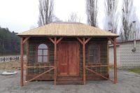 Традиционный абазинский дом плетут из веток