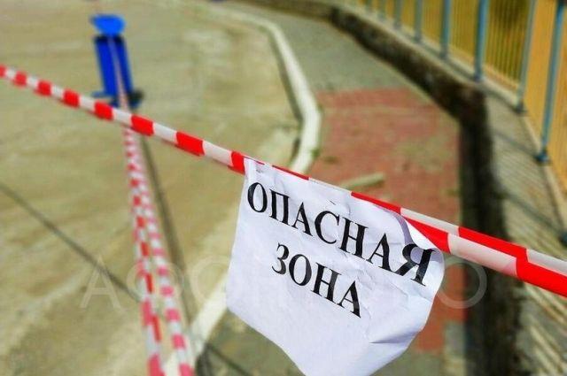 По словам заместителя главы города Олега Животова, угрозы жилым домам нет, но следить за ситуацией необходимо.