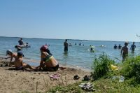 Тюменцы рванули к воде.