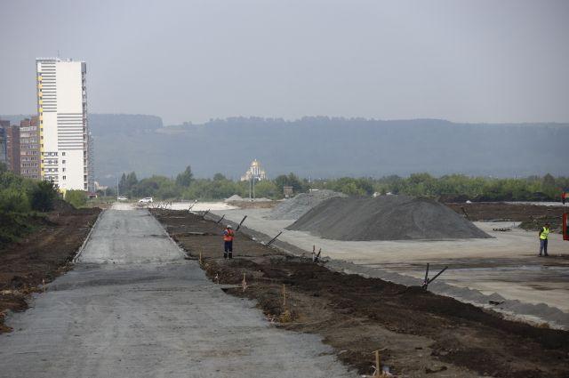 Работы проводятся по нацпроекту «Безопасные и качественные автомобильные дороги».