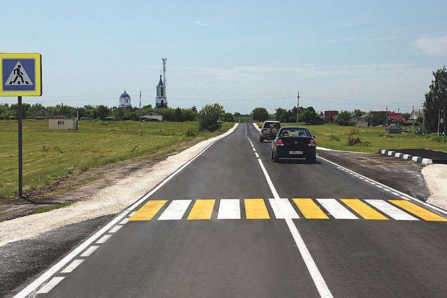 Одна из обновлённых дорог в Грязинском районе.