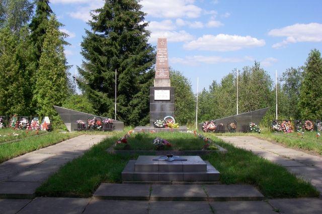 Обелиск «Советским войнам павшим в боях за Ленинград у Синявинских высот в 1941—1944».
