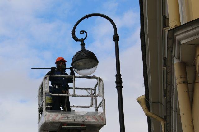 На улицах Петербурга появились фонари со светодиодными светильниками
