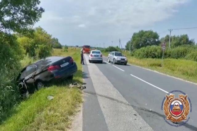 По дороге на Зеленоградск в ДТП пострадал ребенок