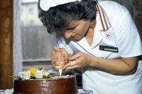 Приготовление торта. 1987 год.