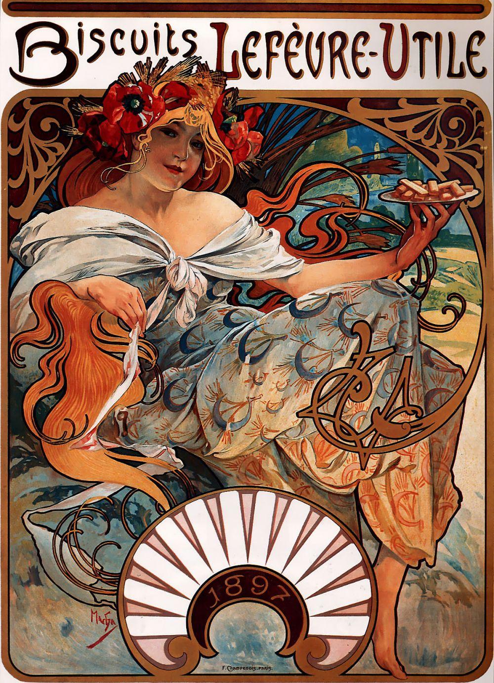 «Бисквиты Лефевра Утиле», 1896 год.