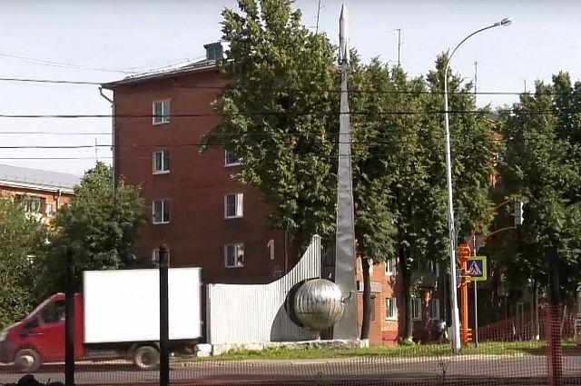 Композицию «Молодые космонавты» установят на месте стелы «Ракета».