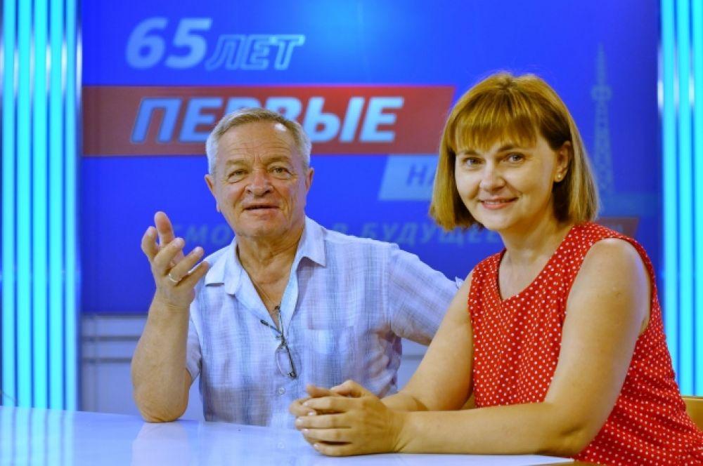 Режиссёр Александр Змага и Лариса Лоскутова.