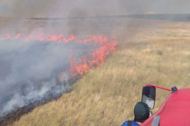 В Первомайском районе локализован пожар на 150 га.