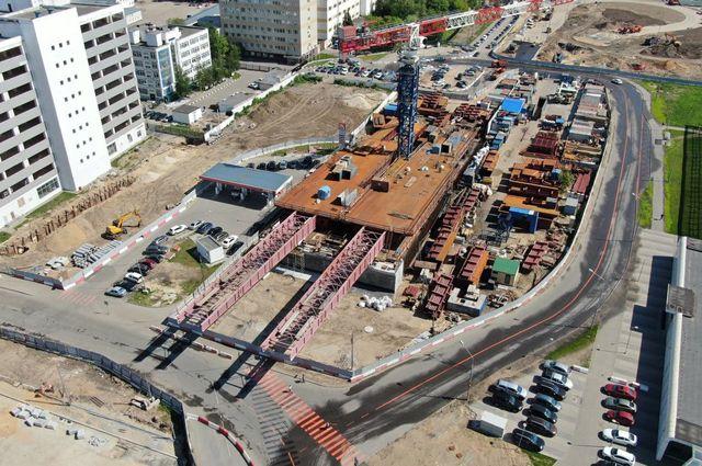 Строительство многоуровневой развязки на пересечении ТТК с ЮВХ в районе ул. Новохохловская.