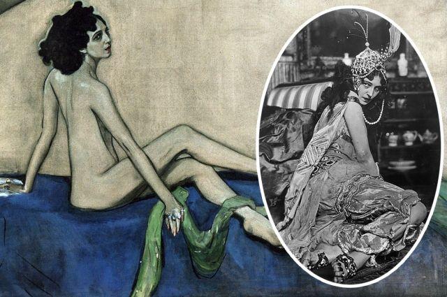 Современники указывали на то, что в жизни Ида Рубинштейн была намного толще, чем её изобразил художник...